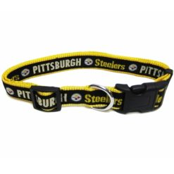 Pittsburgh Steelers nylon dog collar