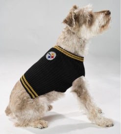 Pittsburgh Steelers turtleneck NFL dog sweater on pet