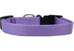Plain Lavender Nylon Dog Collar