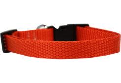 Plain Orange Nylon Dog Collar