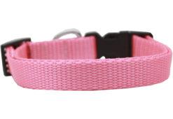 Plain Pink Nylon Dog Collar