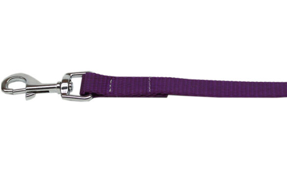 Plain Purple Nylon Dog Leash