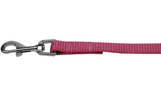 Plain Rose Nylon Dog Leash