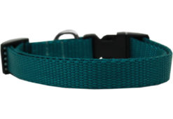Plain Teal Nylon Dog Collar
