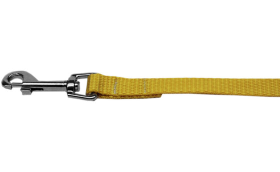 Plain Yellow Nylon Dog Leash