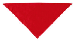 Plain red dog bandana