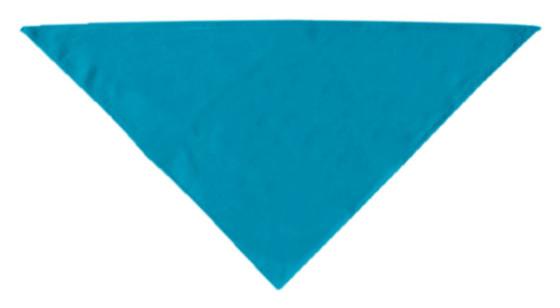 Plain turquoise dog bandana