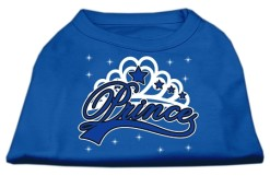 Prince boy t-shirt sleeveless dog blue