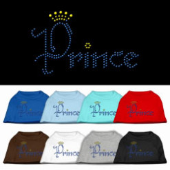 Prince crown rhinestones dog t-shirt colors