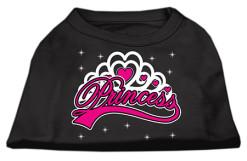 Princess girl t-shirt sleeveless dog black