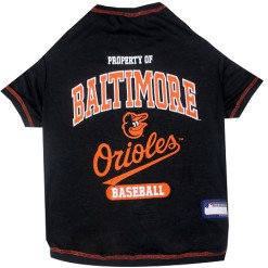Property of Baltimore Orioles Baseball dog tee shirt