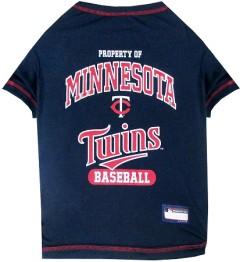 Property of Minnesota Twins Baseball MLB dog tee shirt