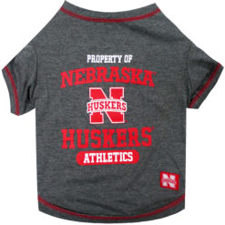 Property of Nebraska Cornhuskers Athletic NCAA Dog T Shirt