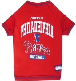 Property of Philadelphia Phillies Baseball dog tee shirt