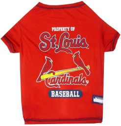 Property of St Louis Cardinals baseball MLB dog tee shirt