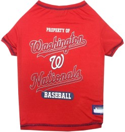 Property of Washington Nationals baseball MLB dog tee shirt
