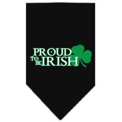 Proud to be Irish Shamrock dog bandana black