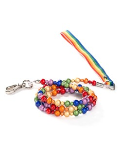 Rainbow Lumi Beads Leash by Fabuleash
