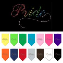 Rainbow Pride rhinestone bandana