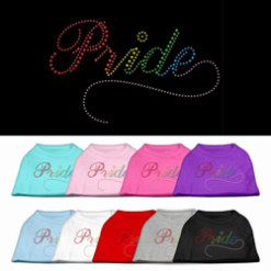 Rainbow pride rhinestones dog t-shirt colors