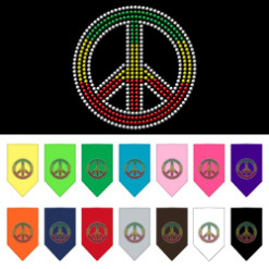 Rasta colors dog rhinestone bandana