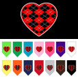 Red Argyle heart dog bandana