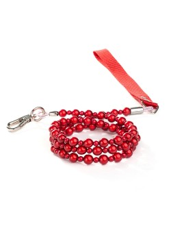 Red Fabuleash Lumi Bead Dog Leash