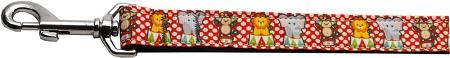 Red Polka Dot Circus Nylon Webbing Dog Leash