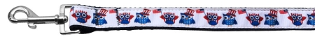 Red White and Blue American Owls Dog Leash