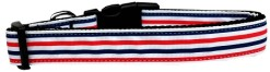Red White and Blue Patriotic Stripes Dog Collar