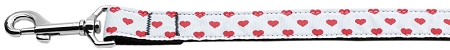 Red and White Dotty Hearts dog leash