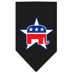 Republican Party dog bandana black