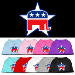 Republican Party elephant mascot dog shirt