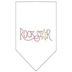 Rockstar rhinestone bandana white