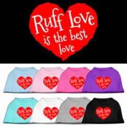 Ruff Love is the Best LOve Screenprint t-shirt sleeveless