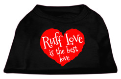 Ruff Love is the Best LOve Screenprint t-shirt sleeveless black