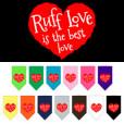 Ruff Love is the Best Love heart dog bandana