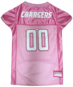 San Diego Chargers leather NFL dog jersey pink