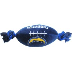 San Diego Chargers plush football dog toy