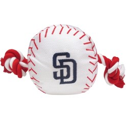 San Diego Padres MLB dog ball and rope toy
