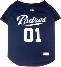 San Diego Padres MLB dog jersey back