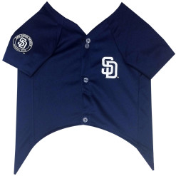 San Diego Padres MLB dog jersey front