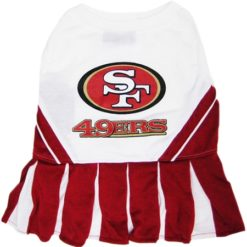 San Francisco 49ers NFL dog cheerleader dress