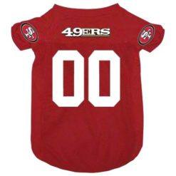 San Francisco 49ers NFL dog jersey alternate style