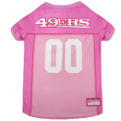 San Francisco 49ers Pink NFL Dog Jersey