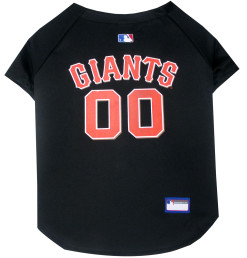 San Francisco Giants MLB dog jersey back