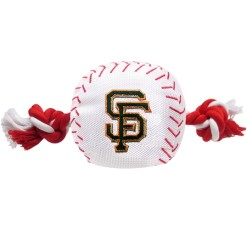 San Francisco Giants plush baseball rope dog toy