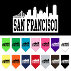 San Francisco skyline dog bandanas