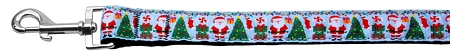 Santa Claus Aqua Dog Leash with Christmas Tree, Decorations and Presents