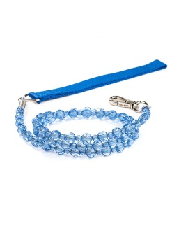 Sapphire Beaded Dog Leash Fab